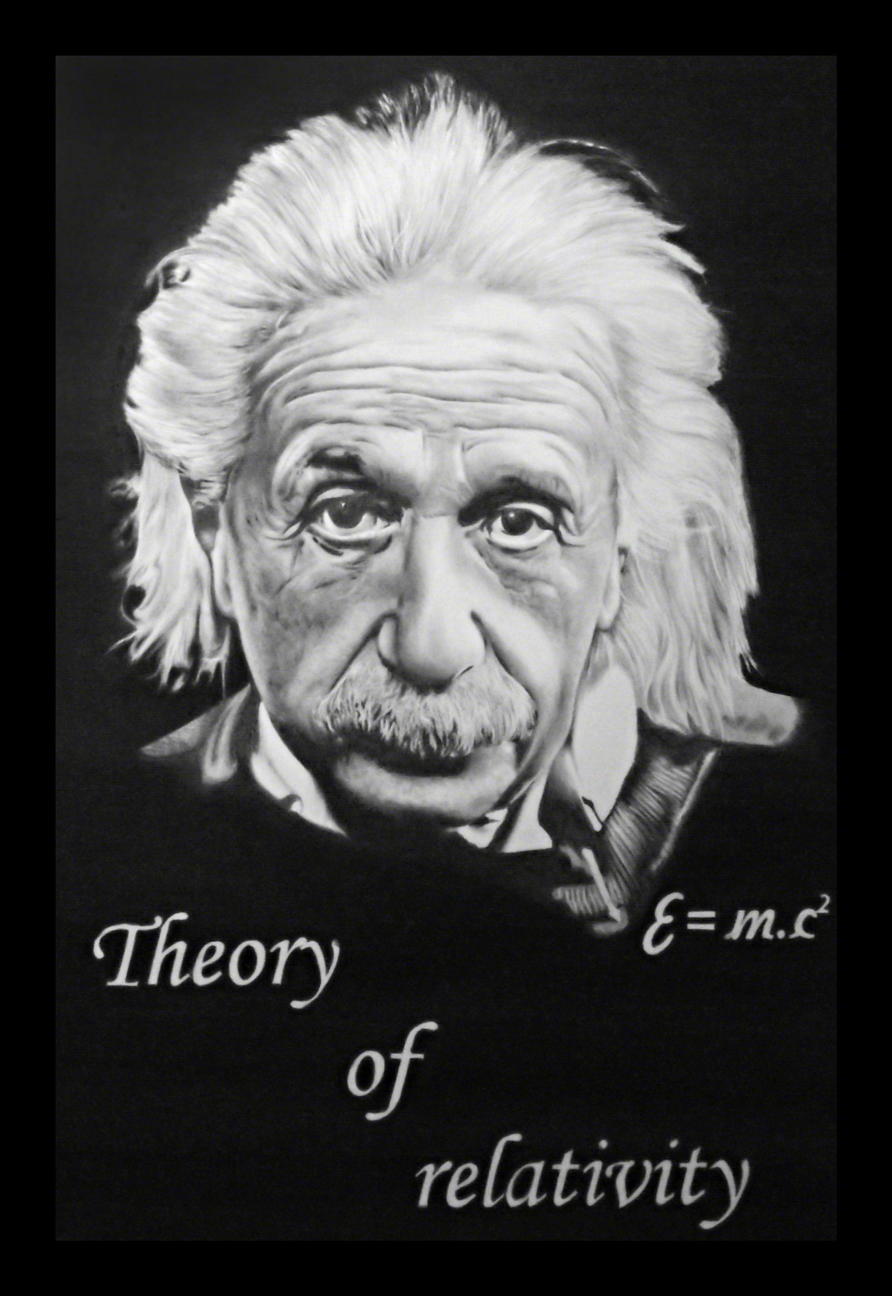 Albert-Einstein-portrét-A2-printable