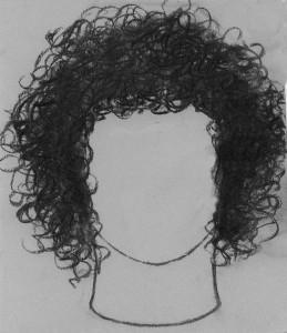 Kreslenie kučeravých vlasov - Obr. 4